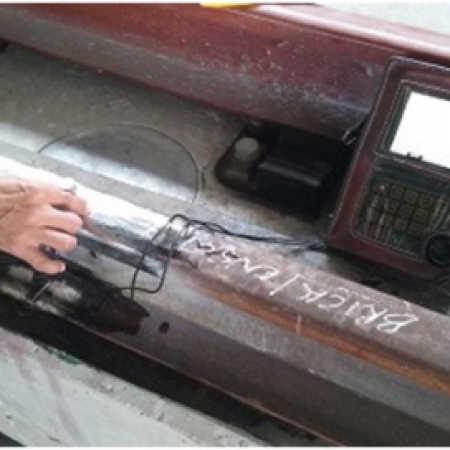 Ensaios não Destrutivos por Ultrassom em Solda Alumínio Térmica/Elétrica