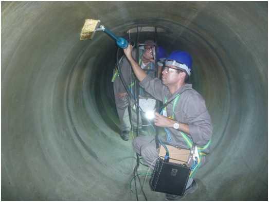 A Inspeção de RevestimentoHoliday Detector feita pela THW tem por finalidade verificar a condição do meio isolante de diversos materiais, exemplos: fibra, borracha, epóxi etc.